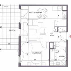 Appartement 3 pièces Metz-Tessy